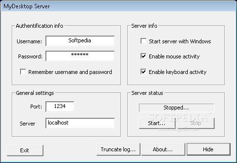 برنامج mydesktop server لشبكة الانترنت