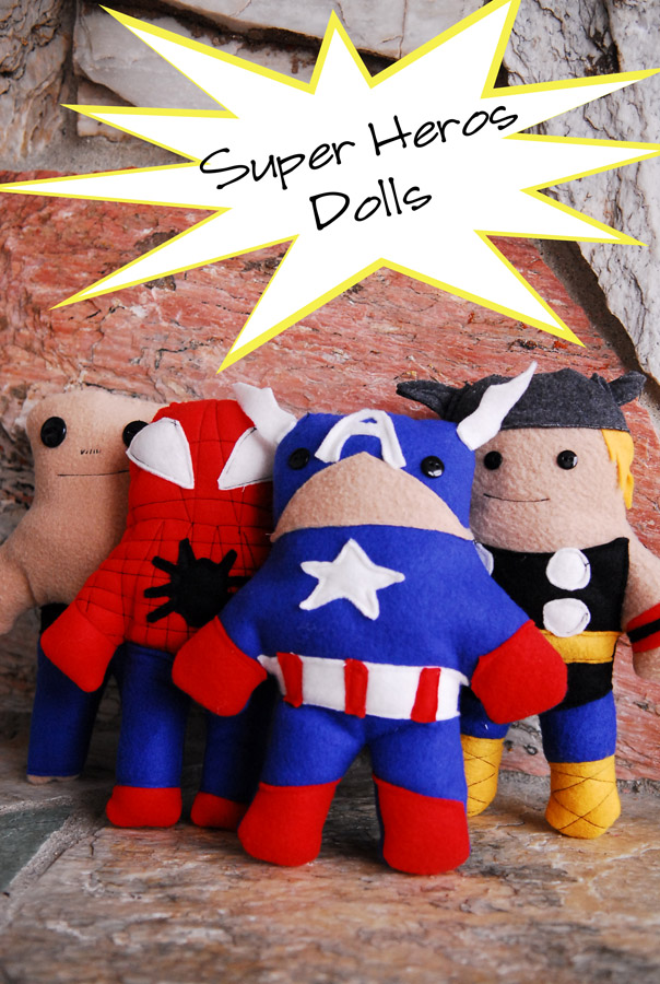 Super Hero Toys For Boys : Super hero dolls free pdf pattern shwin