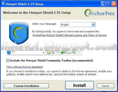 Download dulu software Hotspot Shieldnya melalui websitenya: