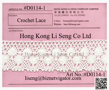 Cotton Crochet Lace For All Kind Apparel Merchandiser, Sourcing Officer