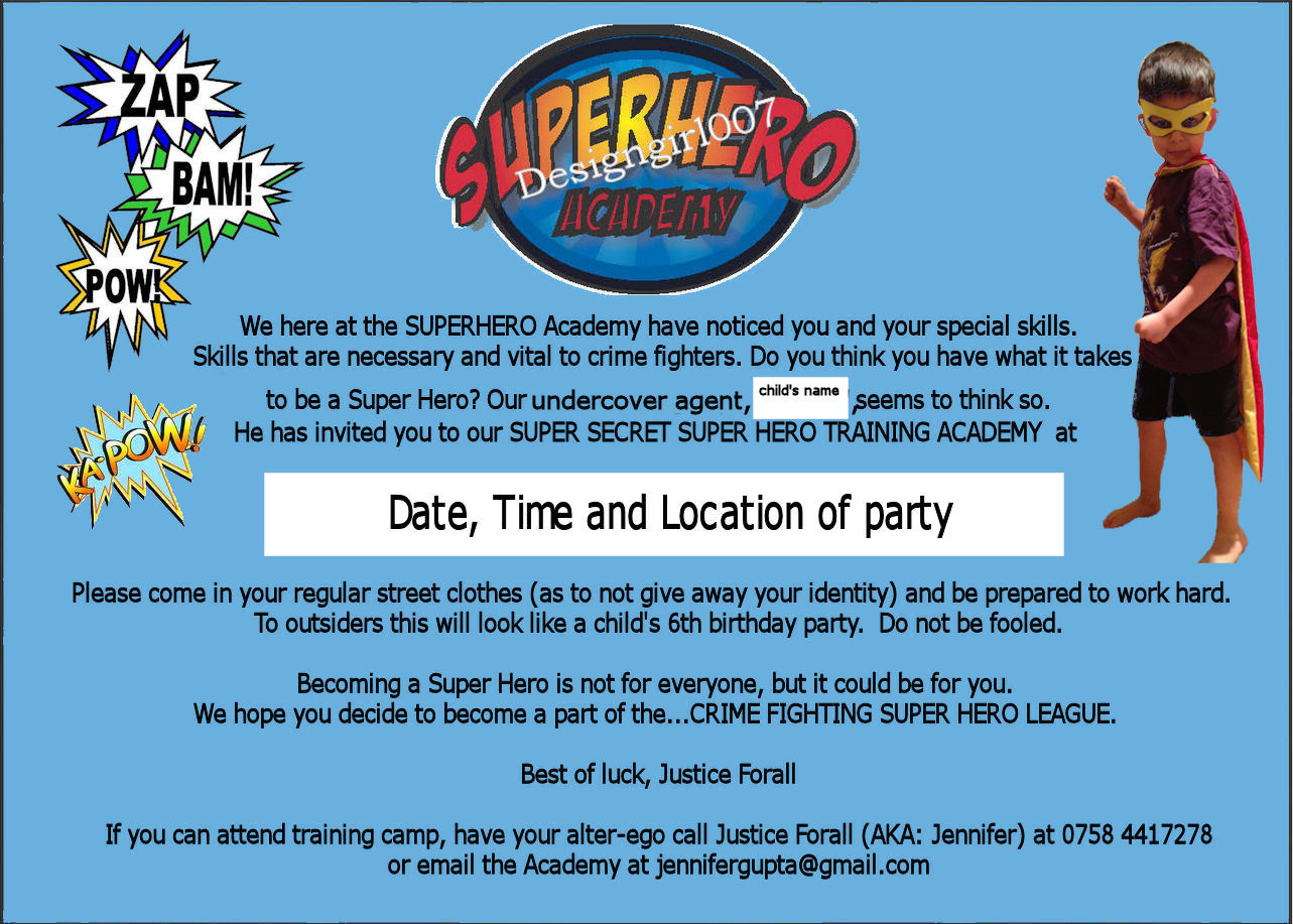 Jennifer\'s 2 cents: Super Hero Birthday Party for my 6 year old!