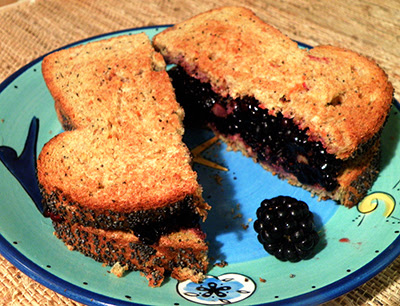 Thick and Succulent Smushberry (blackberry) sandwich