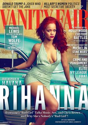Rihanna strips completely naked for Vanity Fair November issue