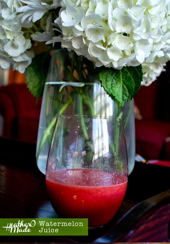 watermelon juice. just 1 ingredient.