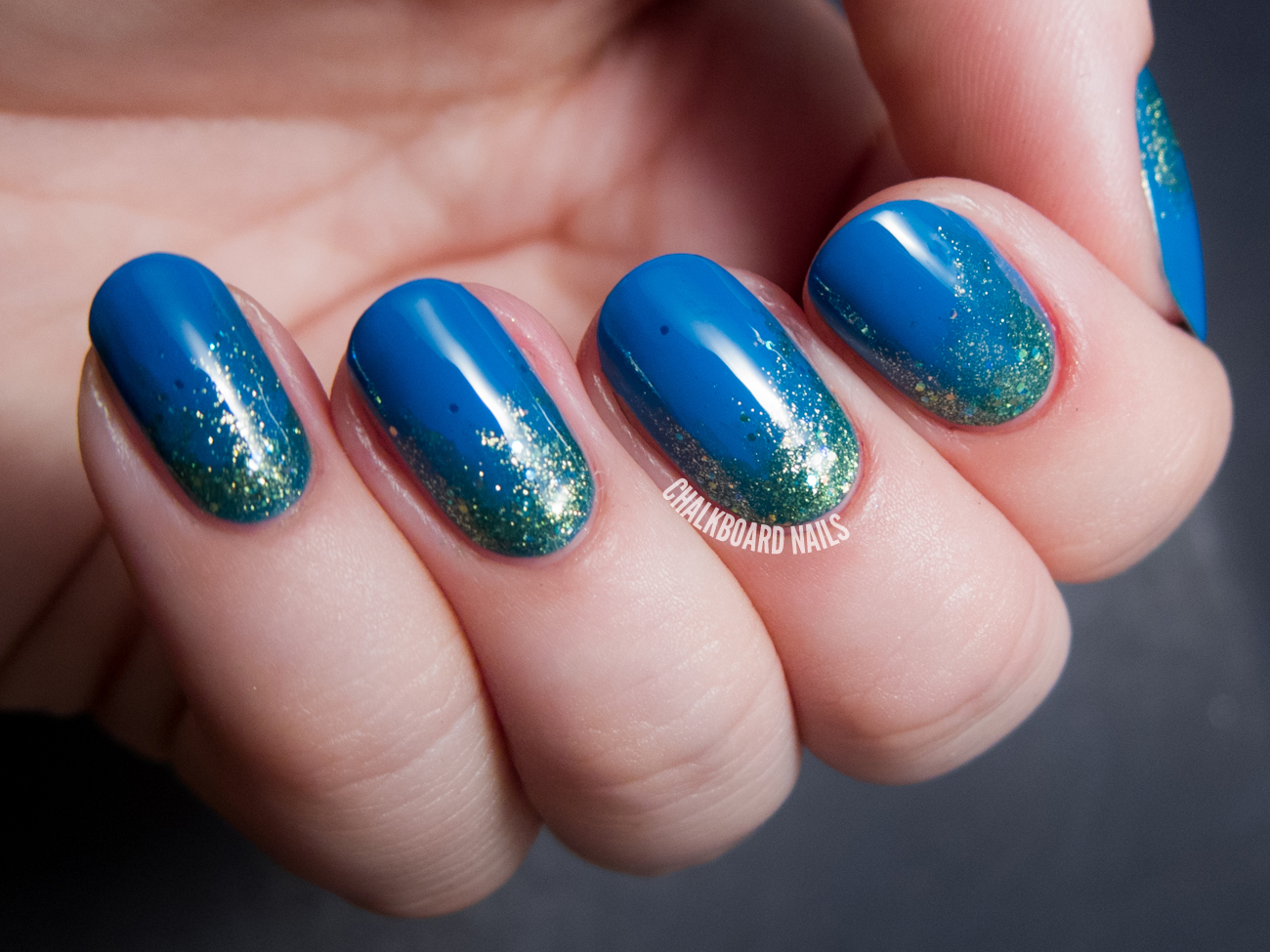 Earthly Glitter Gradient ft. Zoya Tickled and Bubbly Nail Polish ...