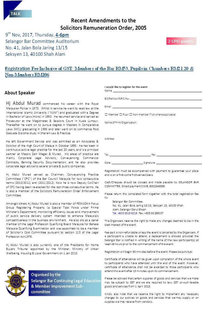 Leghisgeosciads Blog Malaysia Talk Recent Amendments To The Solicitors Remuneration Order 2005