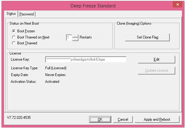 deep freeze free activation key