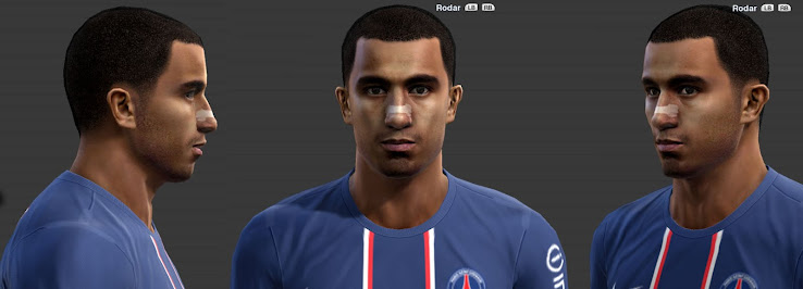 PES 2013 Lucas Moura Face by JuniorSD