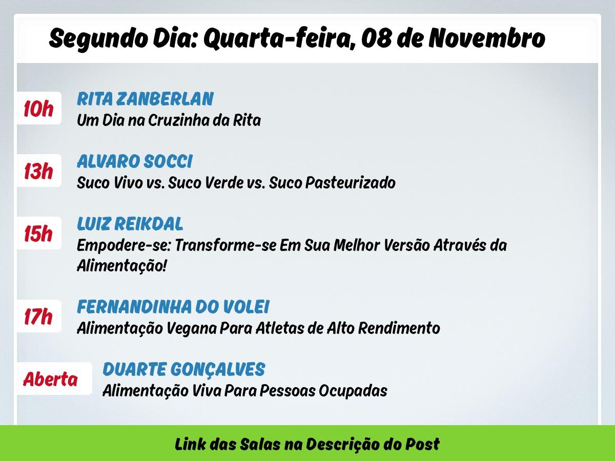 PROGRAMAÇÃO DE PALESTRAS DO SEMAV PARA QUARTA-FEIRA DIA 8 DE NOVEMBRO.