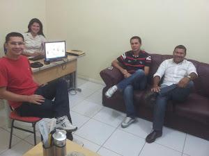 Visita Pr. Marcelo Torres e Thiago Higino.