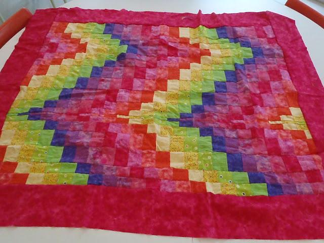 Bargello Rainbow Quilt