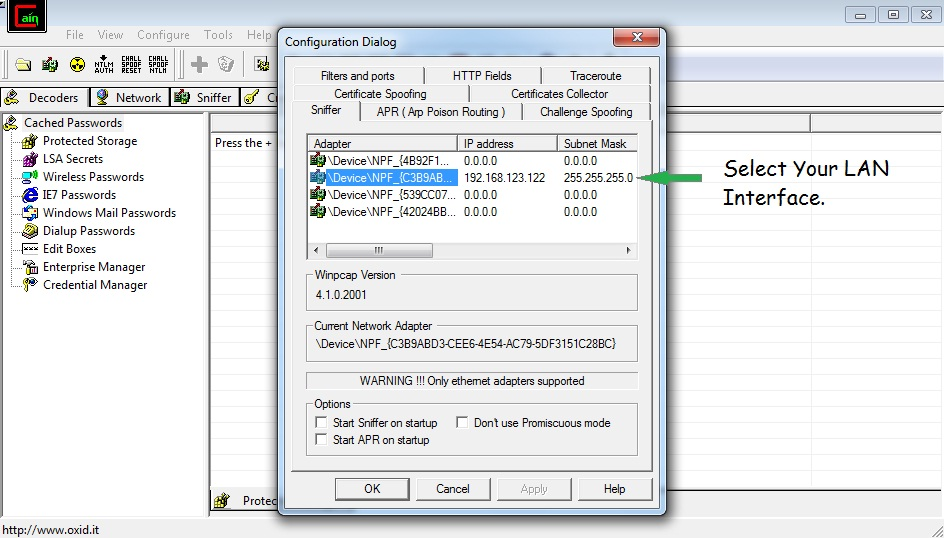 how to crack wifi password using cain and abel software