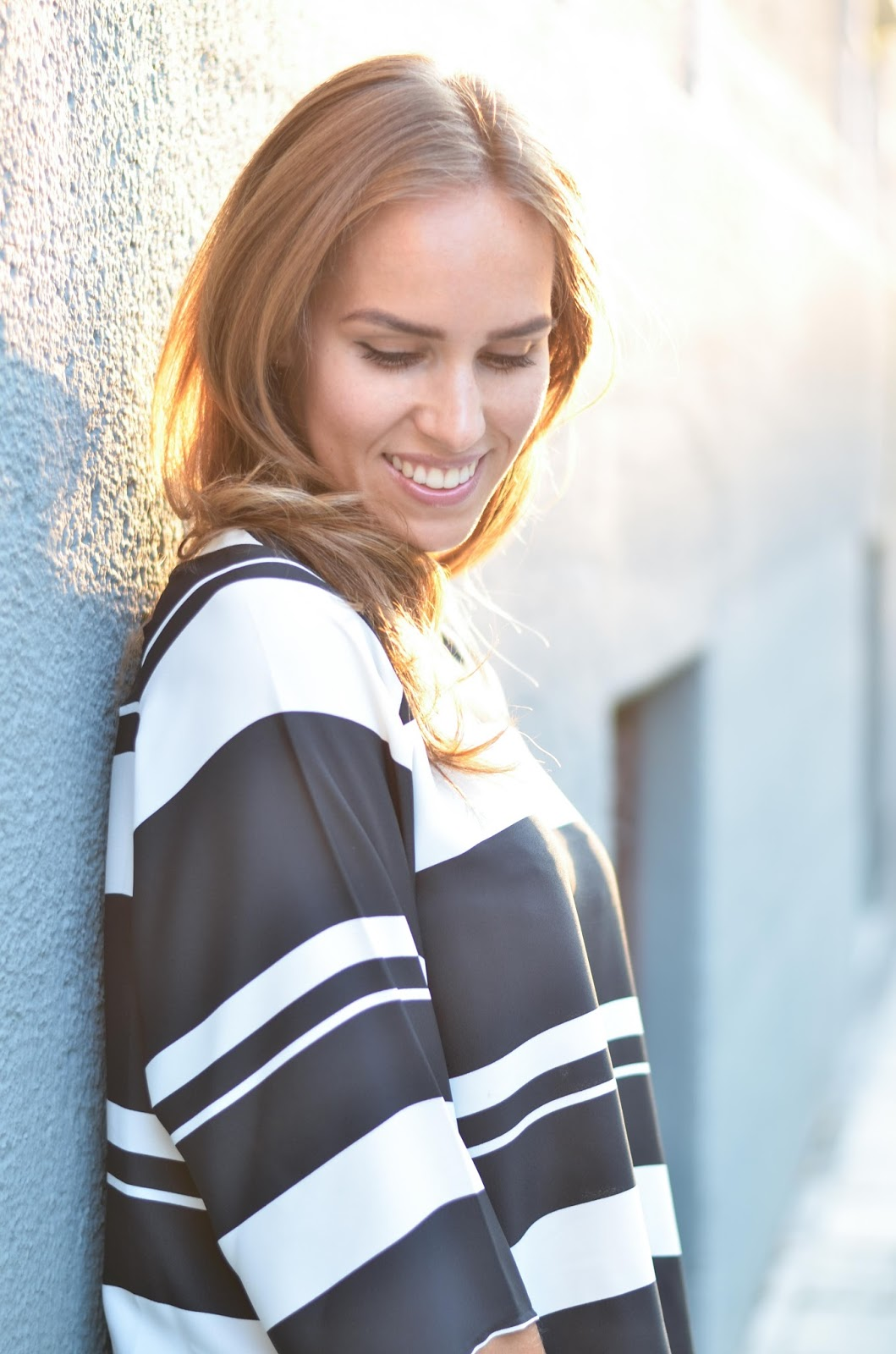 kristjaana mere lindex black white striped top