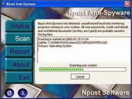 أداة الحماية الفعالة Npust Anti-Spyware