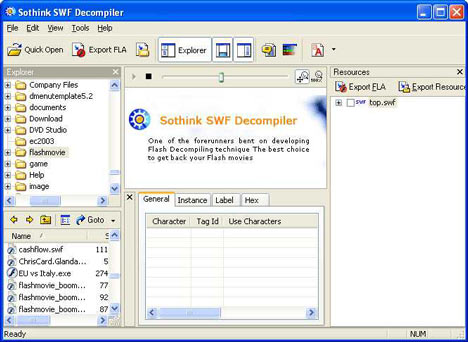 Decompiler swf Free Download - BrotherSoft