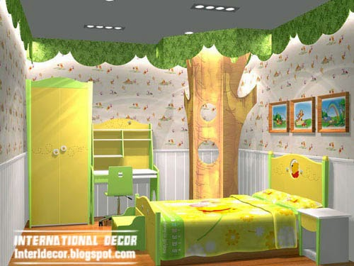 beautiful forest theme for kids room, kids room themes decorating ideas