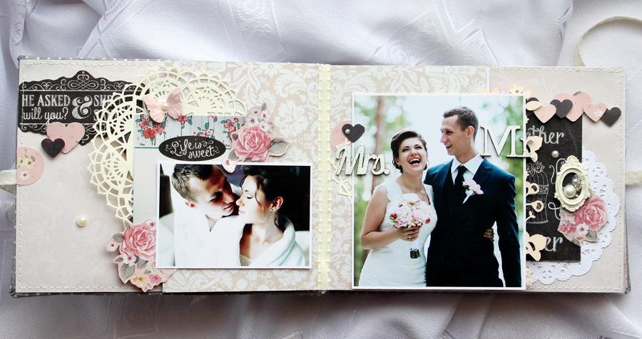 Украшаем свадебный альбом  фото