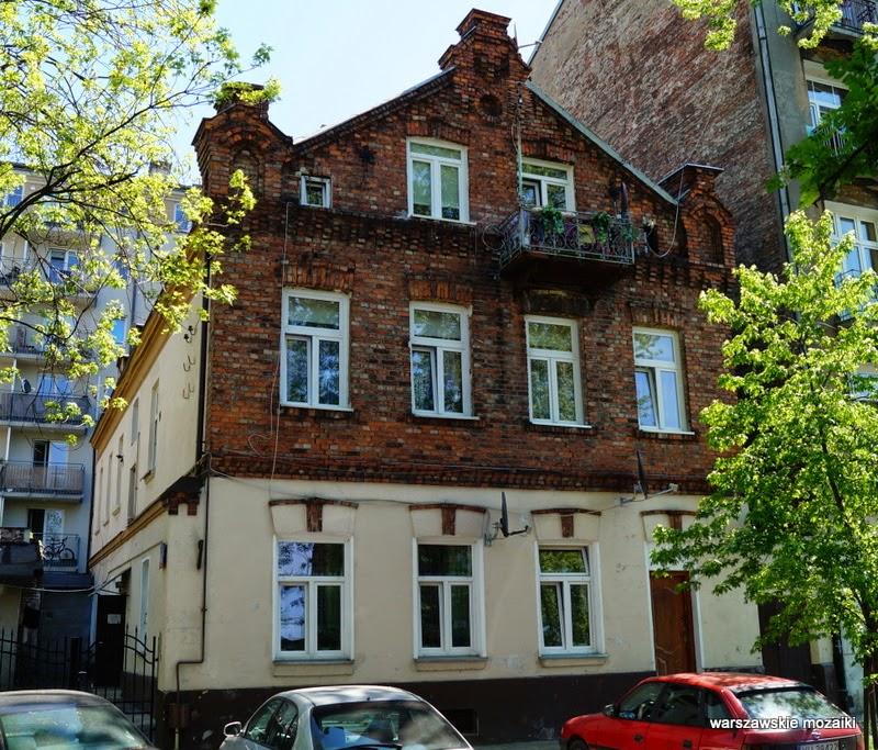 Warszawa Praga cegła stolica willa balkon zabytek