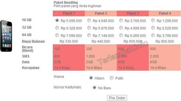 Paket Bundling iPhone 5 Telkomsel