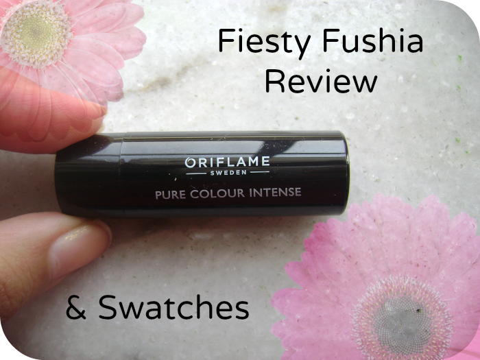 Oriflame pure colour intense in feisty fuchsia review, swatches and prices in India