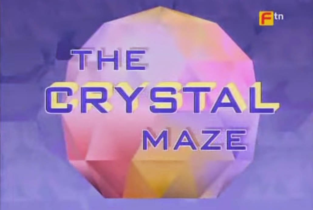 The Crystal Maze Title Card British Game Show aired in PTV NBN Channel 4 Philippine Television in the 90's