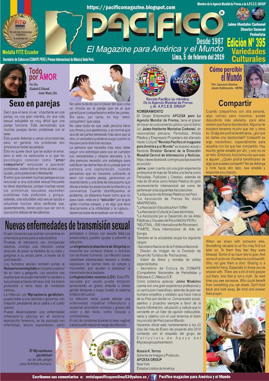 Revista Pacifico N° 395 Variedades Culturales