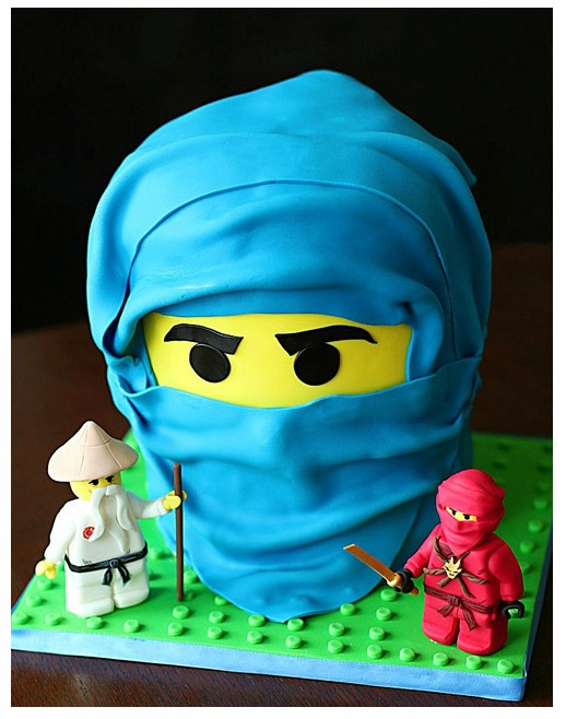 Lego Ninjago Red Ninja Kai Sensei And Blue Jay Birthday