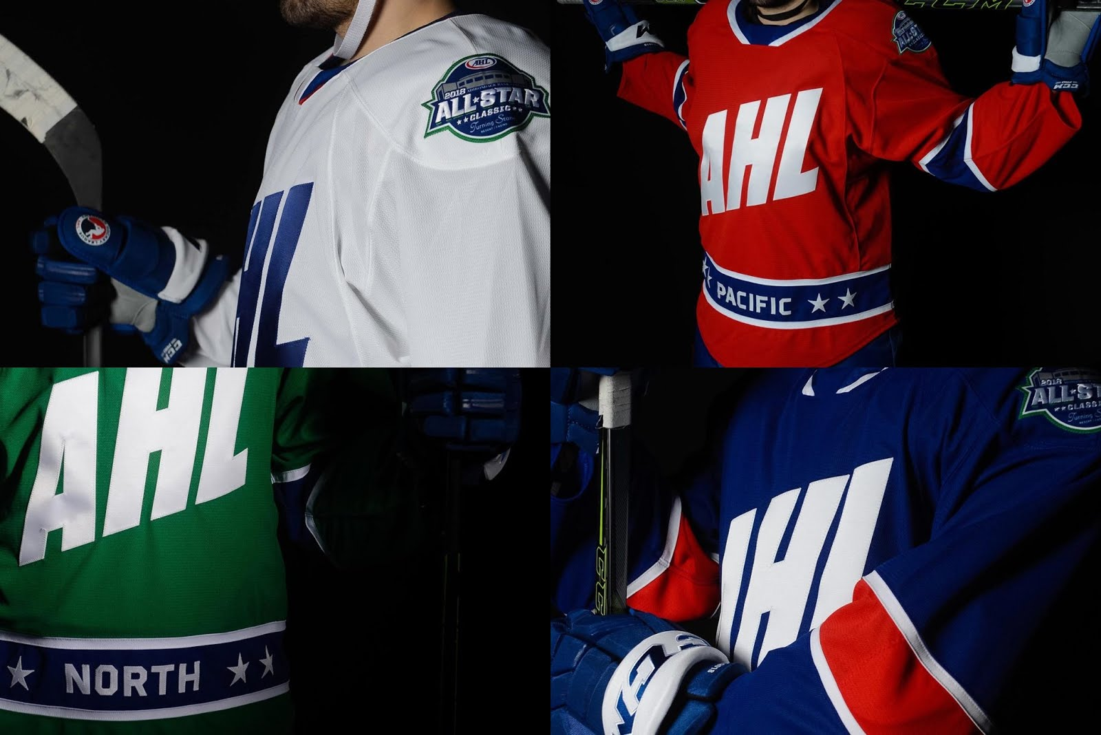 On Friday the AHL revealed what the 4 divisional teams will be wearing at  the 2018 AHL All-Star Classic in Utica. 50e535e06