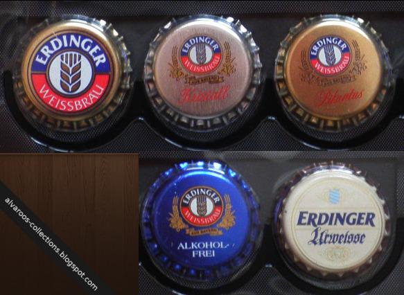 Beer caps collection: Erdinger Weissbrau, Kristall, Pikantus, Alkohol-Frei, Urweisse