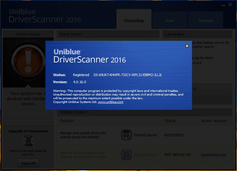 driver scanner serial number 2016