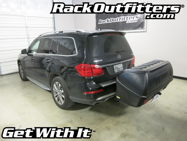 Mercedes benz thule 665c transporter combi hitch mounted for Mercedes benz cargo box