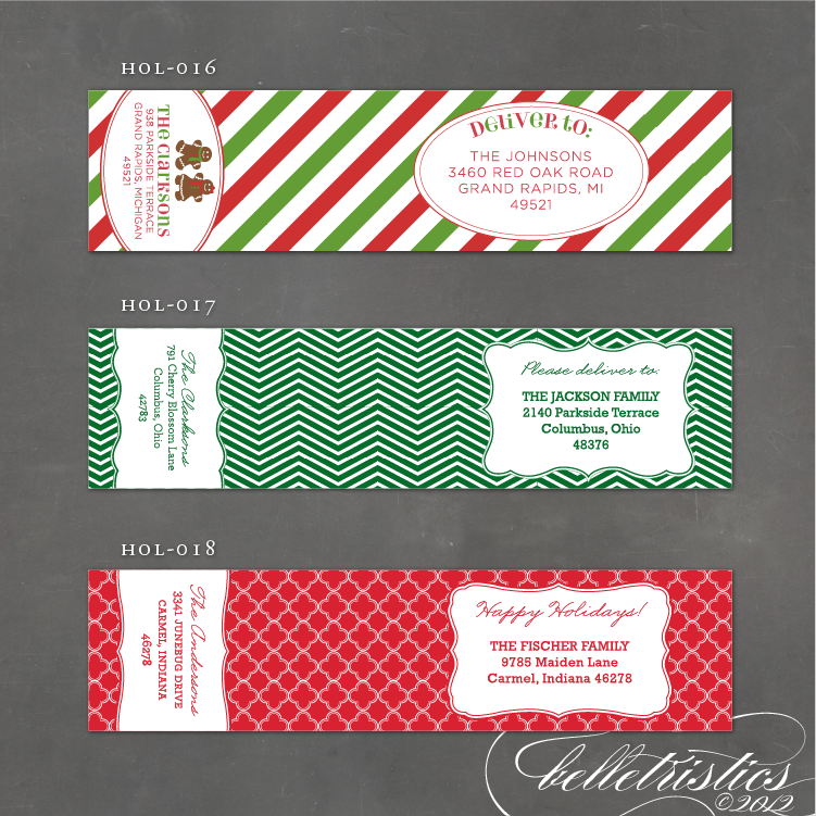Holiday Address Label Mailing Christmas Addresses
