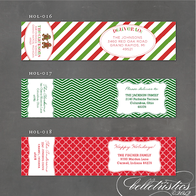 holiday address label, mailing label, christmas addresses