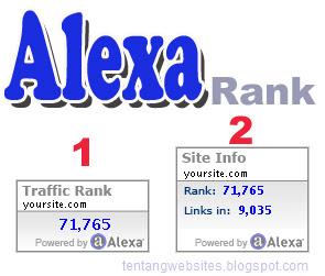 Cara membuat alexa rank pada blog