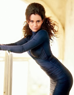 kangana-ranaut-in-designer-full-sleeve-violet-mini-dress-flaunting-her-curves
