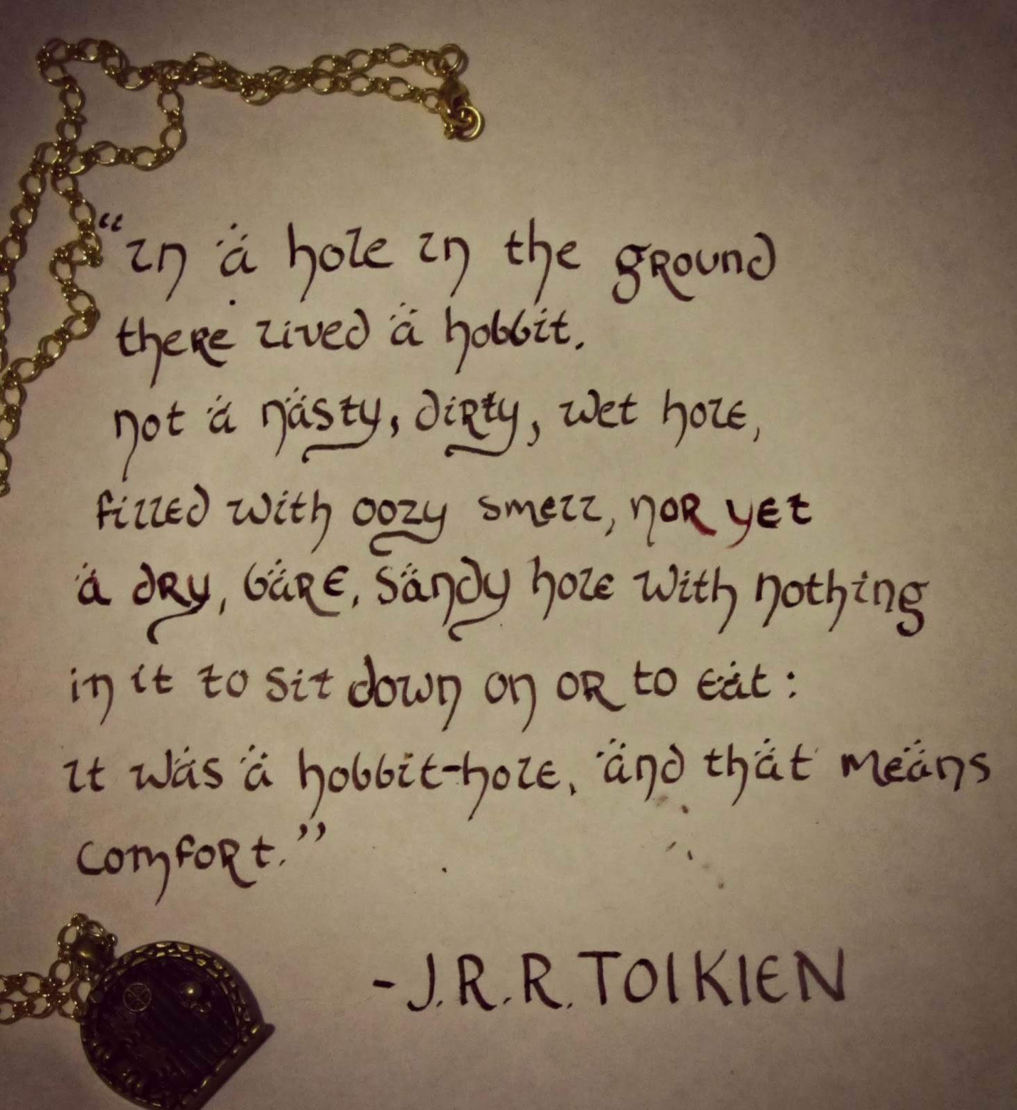 hobbit writing The hobbit-hole in question belongs to bilbo baggins, a very respected hobbit he is, like most however as tolkien continued writing it.