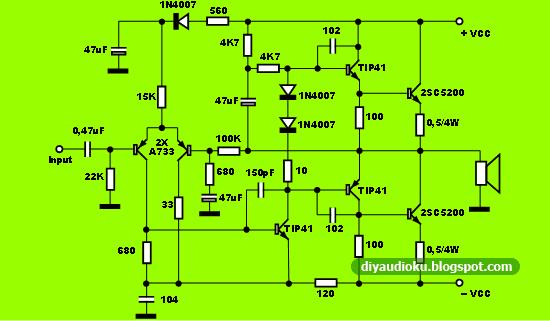 Rangkaian Power Amplifier Sound System Rangkaian Power Amplifier Ocl