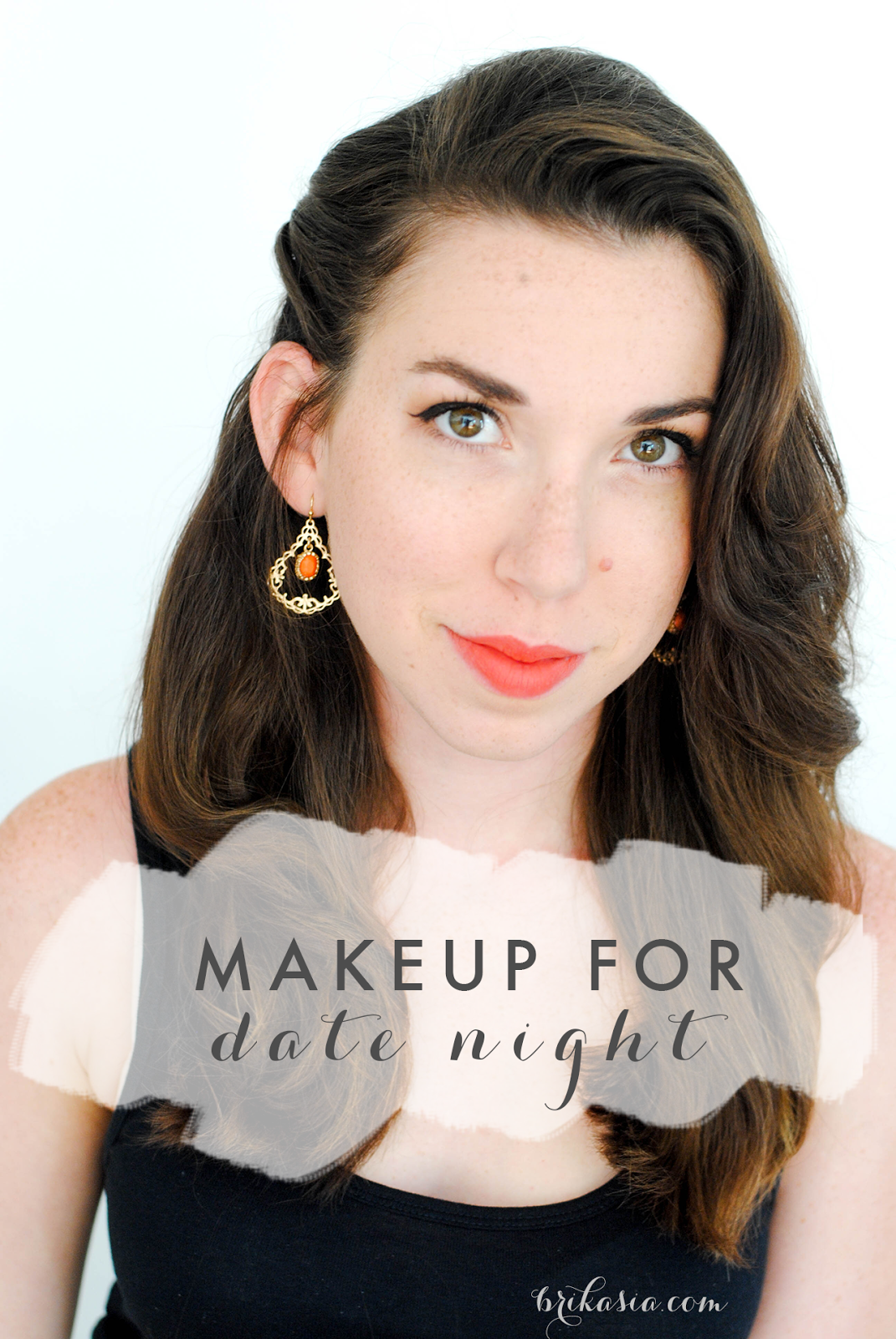 date night makeup tutorial, what makeup to wear for going out on a date, anniversary party makeup tutorial, cateye makeup look, glitter
