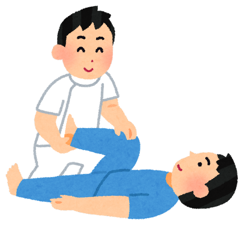 理学療法士の男性が、体に障害 ... : 年賀状無料素材2015 : 年賀状