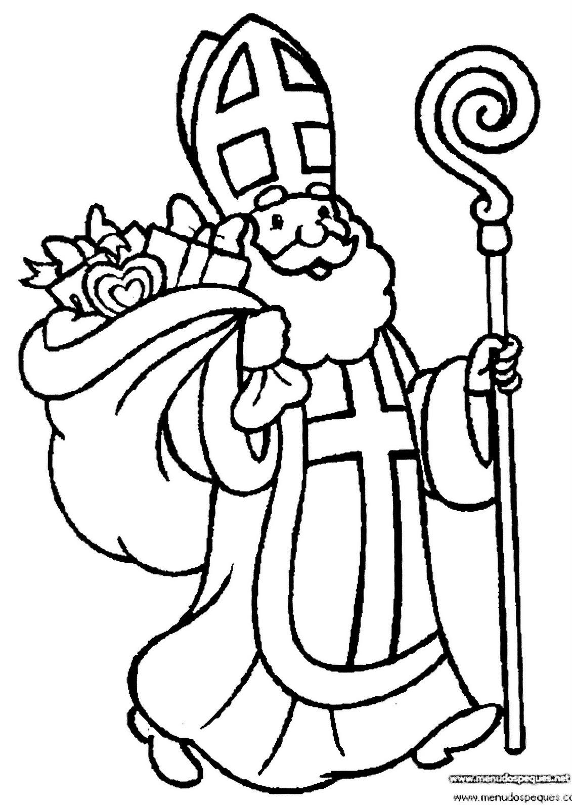 BAÚL DE NAVIDAD: San Nicolás (colorear dibujos)