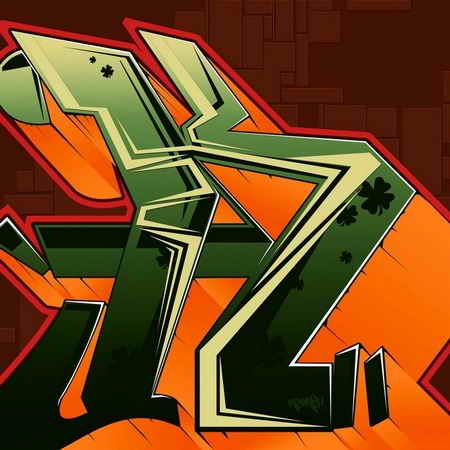 K Letter In Style wallpaper zh: 5 Graffiti Letter K, Graffiti Style
