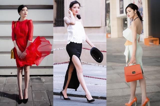 Gu thời trang đường phố của người đẹp được nâng cấp nhờ kết hợp hài hòa giữa trang phục, phụ kiện kính mắt, mũ, túi xách, giày cao gót...