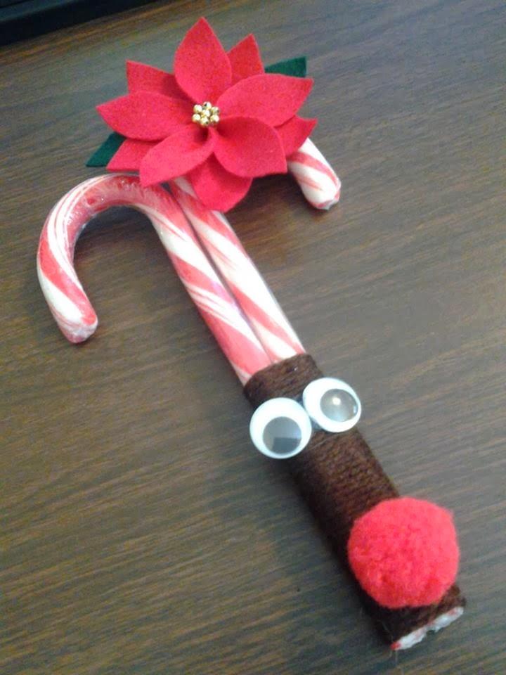 Rodolfo el reno elaborado con caramelos navide o - Regalos bonitos para navidad ...