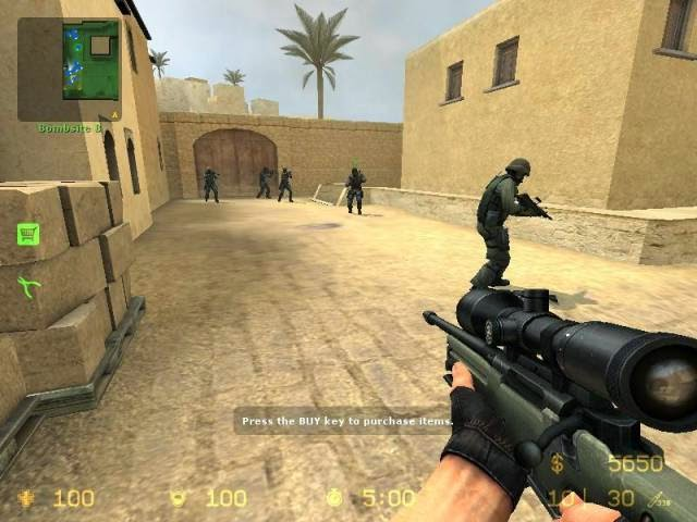 Playing Counter Strike Source PC Games