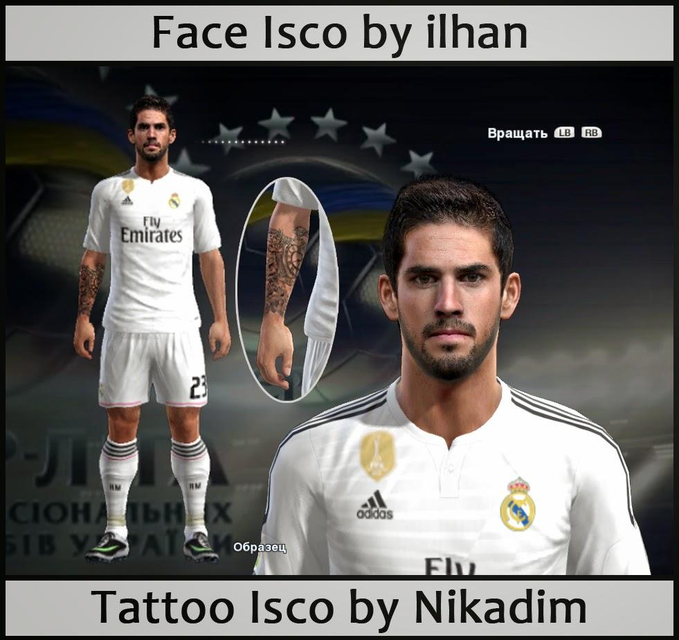 PES 2013 Tattoo Isco by Nikadim