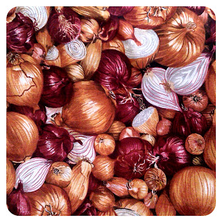 Eat Onions fabric, Makower UK