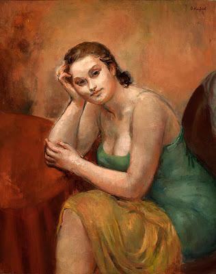 Woman at Table, by Karfiol