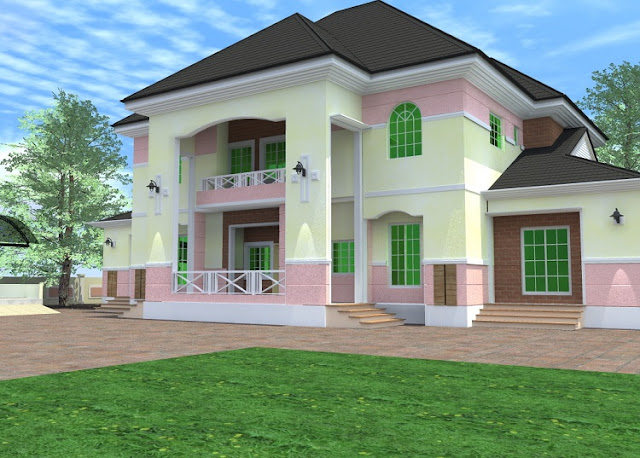 Residential homes and public designs 6 bedroom duplex for Bedroom designs in nigeria