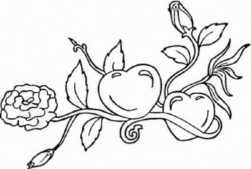 Hearts Flowers Coloring Pages For Kids >> Disney Coloring Pages