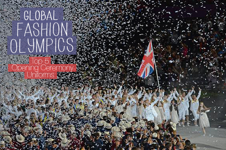 Parade of Nations 2012, Team uniforms 2012, Opening Ceremony Fashion 2012, Team GB, Olympic Fashion